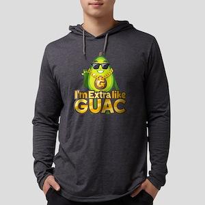 Emoji Avocado Extra Like Guac Mens Hooded Shirt
