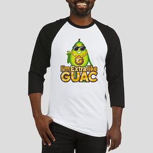 Emoji Avocado Extra Like Guac Baseball Tee