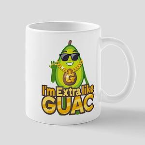 Emoji Avocado Extra Like Guac 11 oz Ceramic Mug