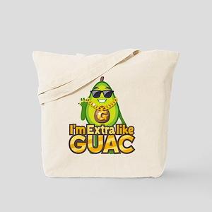 Emoji Avocado Extra Like Guac Tote Bag