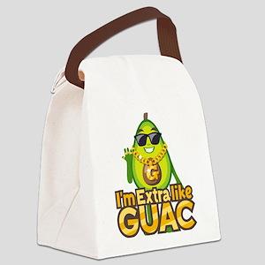 Emoji Avocado Extra Like Guac Canvas Lunch Bag
