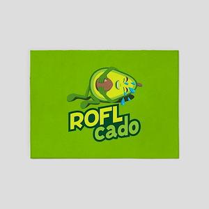 Emoji Avocado ROFL Cado 5'x7'Area Rug