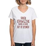 HUGE STONES Women's V-Neck T-Shirt