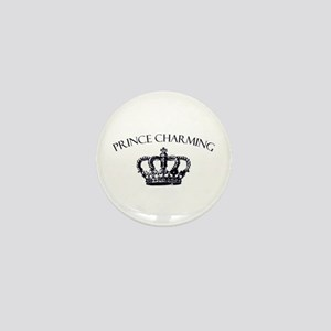 Prince Charming Crown Mini Button