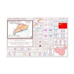 Guangdong mini map Lifebook Scrapbook Cutouts