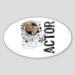 Actor Alchemy Collage Oval Sticker