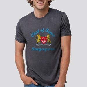 Cat Of Arms Singapore Count Mens Tri-blend T-Shirt