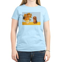 Sunflowers - Doxie (LH,S) Women's Light T-Shirt