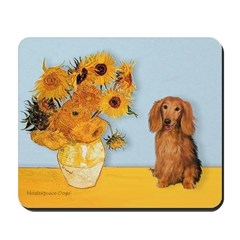 Sunflowers - Doxie (LH,S) Mousepad