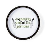 Gardeners spread the best dir Wall Clock