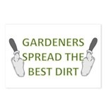 Gardeners spread the best dir Postcards (Package o