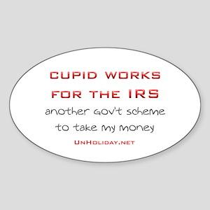 IRS Cupid 2 Oval Sticker
