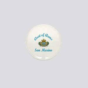 Coat Of Arms San Marino Country Design Mini Button