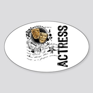 Actress Alchemy Collage Oval Sticker