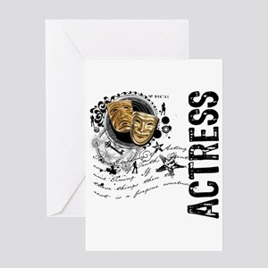 Actress Alchemy Collage Greeting Card