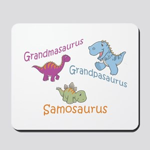 Grandma, Grandpa & Samosaurus Mousepad
