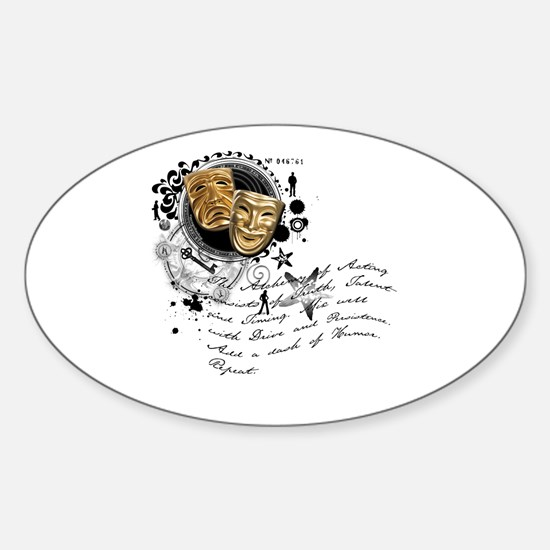 The Alchemy of Acting Oval Decal