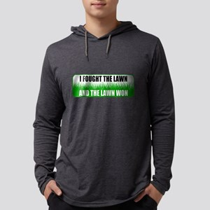 I Fought The Lawn Funny Mowing Humor Long Sleeve T