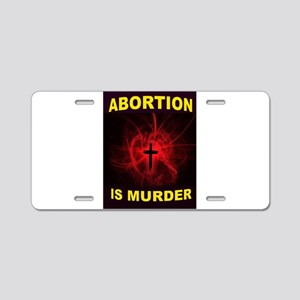 ABORTION Aluminum License Plate