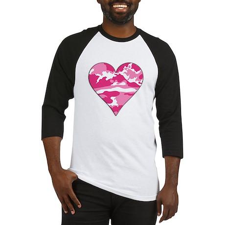 Pink Camo 2D Valentine Heart Baseball Jersey