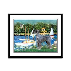 PS G. Schnauzer & Sailboats Framed Panel Print