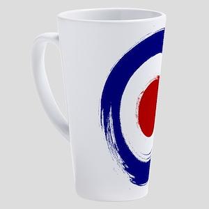 Paint stroke Mod Target design 17 oz Latte Mug