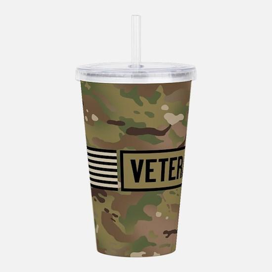 Military: Veteran (Cam Acrylic Double-wall Tumbler