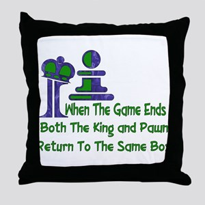Chess and Death Throw Pillow