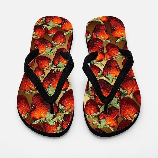 Lots Of Strawberries Flip Flops