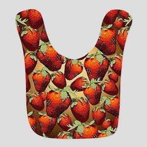 Lots Of Strawberries Polyester Baby Bib