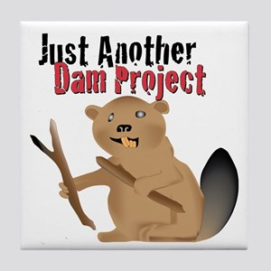 Another Dam Tile Coaster