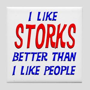 I Like Storks Tile Coaster