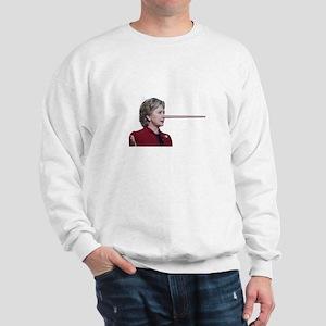 Hillary Clinton Pinocchio Sweatshirt