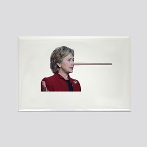 Hillary Clinton Pinocchio Rectangle Magnet