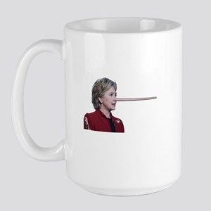 Hillary Clinton Pinocchio Large Mug