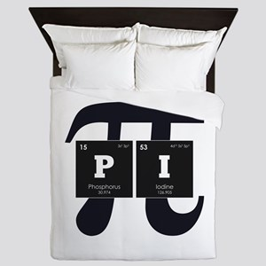 Periodic Elements: Pi Queen Duvet