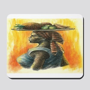 Woman and Fruit - Original Artwork Mousepad