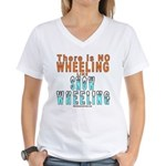 SNOW WHEELING Women's V-Neck T-Shirt