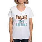 SNOW WHEELING Women's V-Neck T-Shirt
