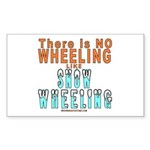 SNOW WHEELING Rectangle Sticker