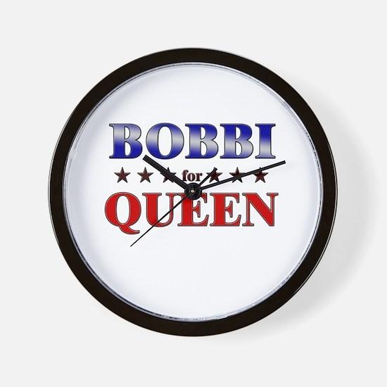 BOBBI for queen Wall Clock
