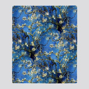 van Gogh 1890 Almond Blossoms Throw Blanket