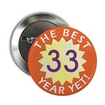 Best Year - Button - 33 (10 pack)