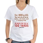 100 YARDS Women's V-Neck T-Shirt