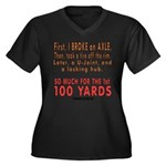 100 YARDS Women's Plus Size V-Neck Dark T-Shirt