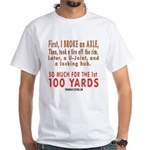 100 YARDS White T-Shirt
