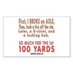 100 YARDS Rectangle Sticker