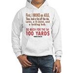 100 YARDS Hooded Sweatshirt