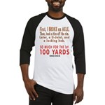 100 YARDS Baseball Jersey