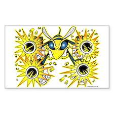 Killer Bee @ eShirtLabs.Com Rectangle Sticker